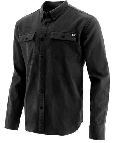 Caterpillar Button Up L/S Shirt Shirts Black